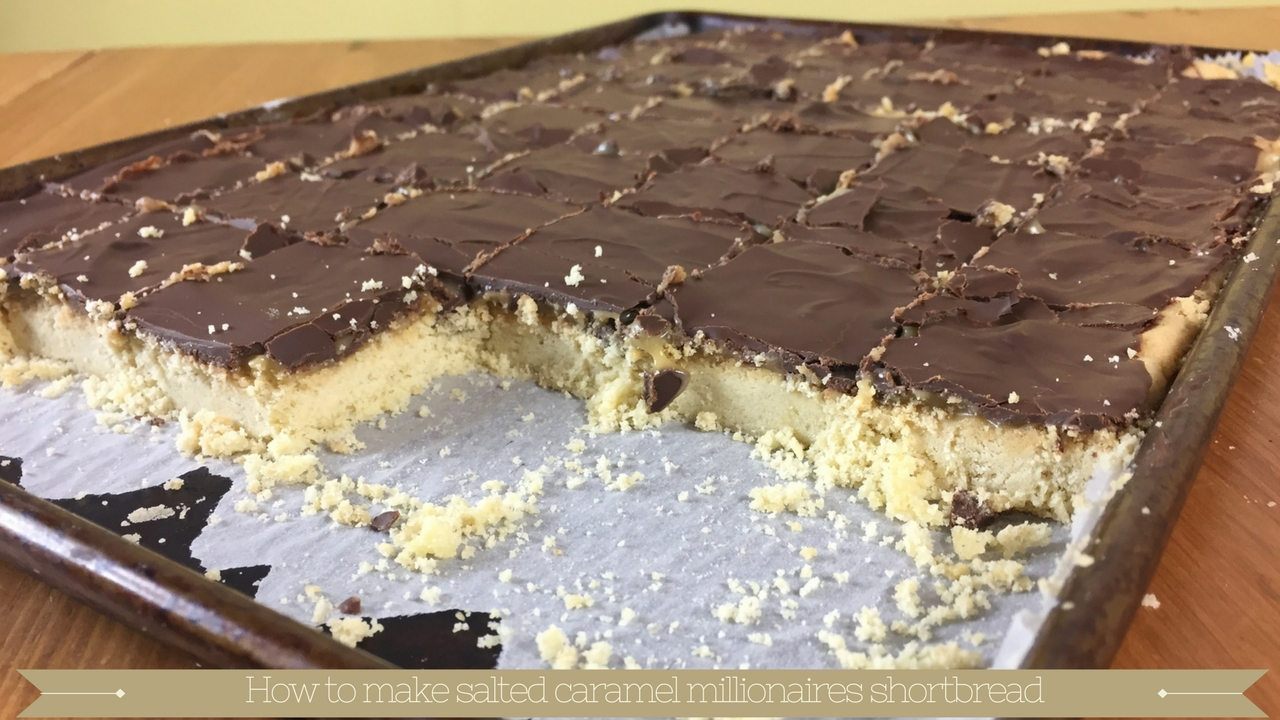 How to bake salted caramel millionaires shortbread meadow brown bakery