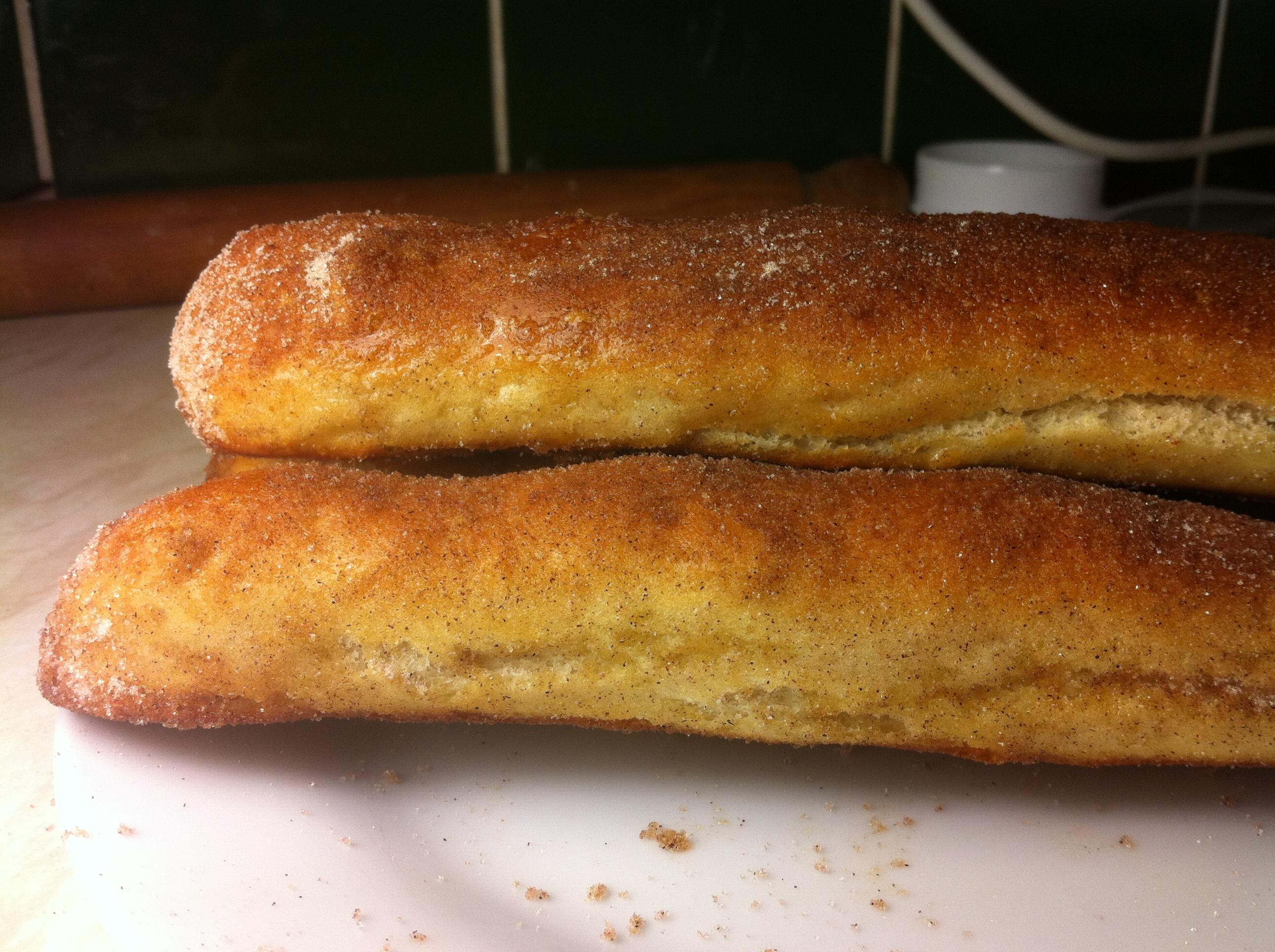 Soft pretzel sticks baked at home