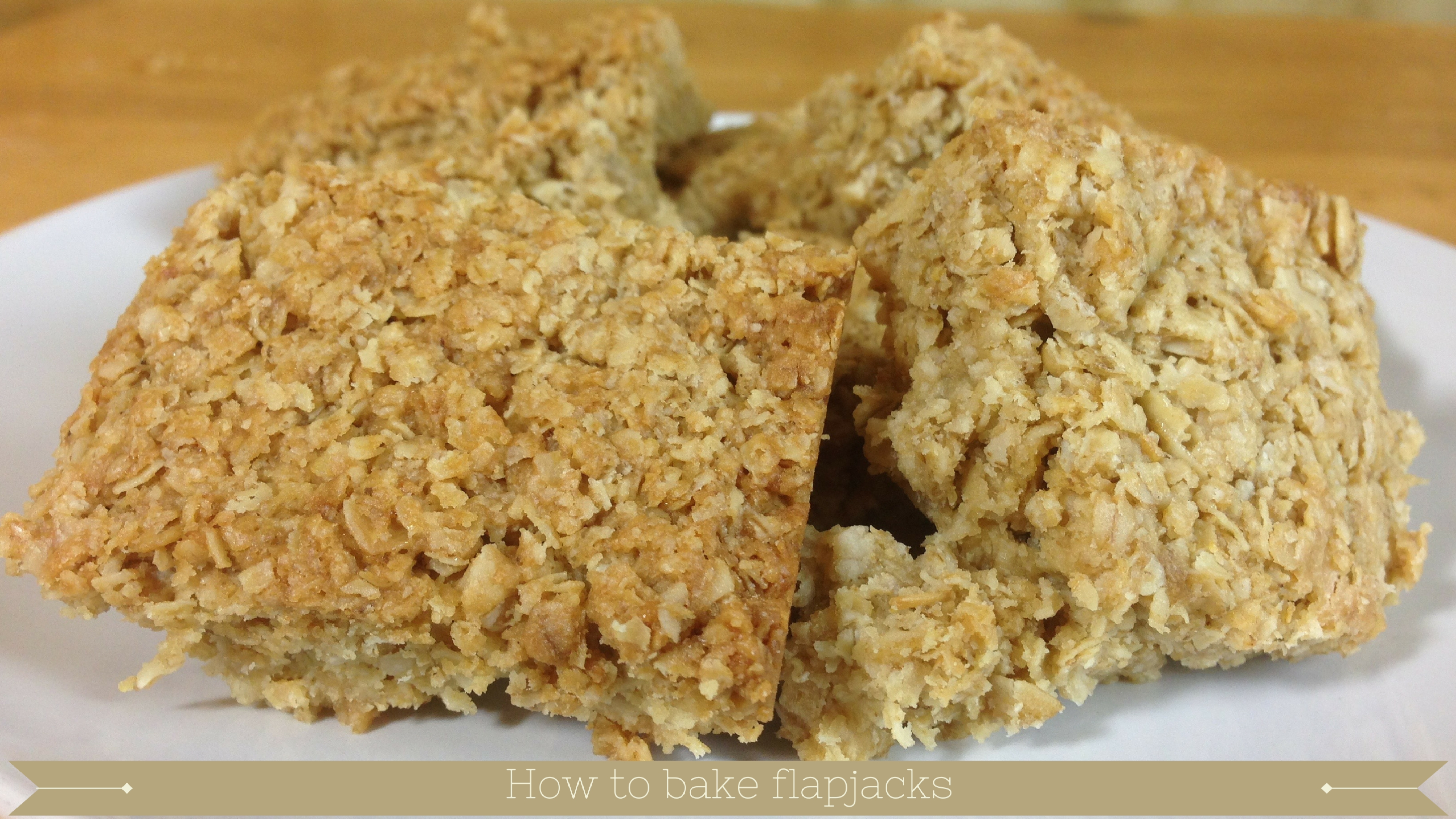 oat flapjacks tray bake