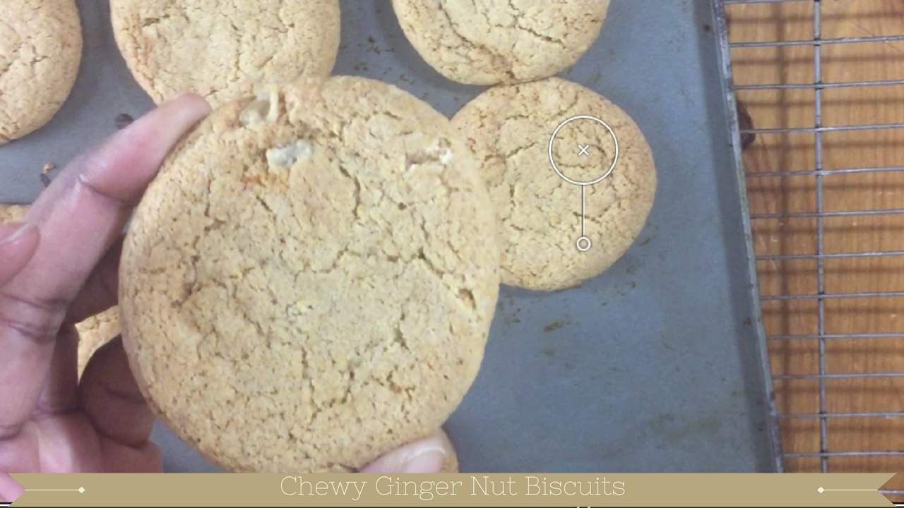 Chewy Ginger nut Biscuits - meadow brown bakery