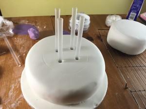 chunky straws inside cake