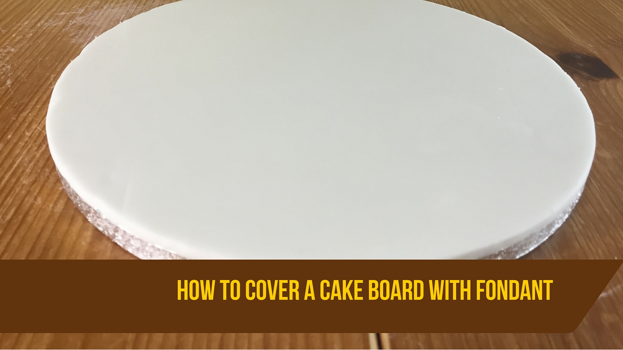 Covering a round cake board with fondant for beginners