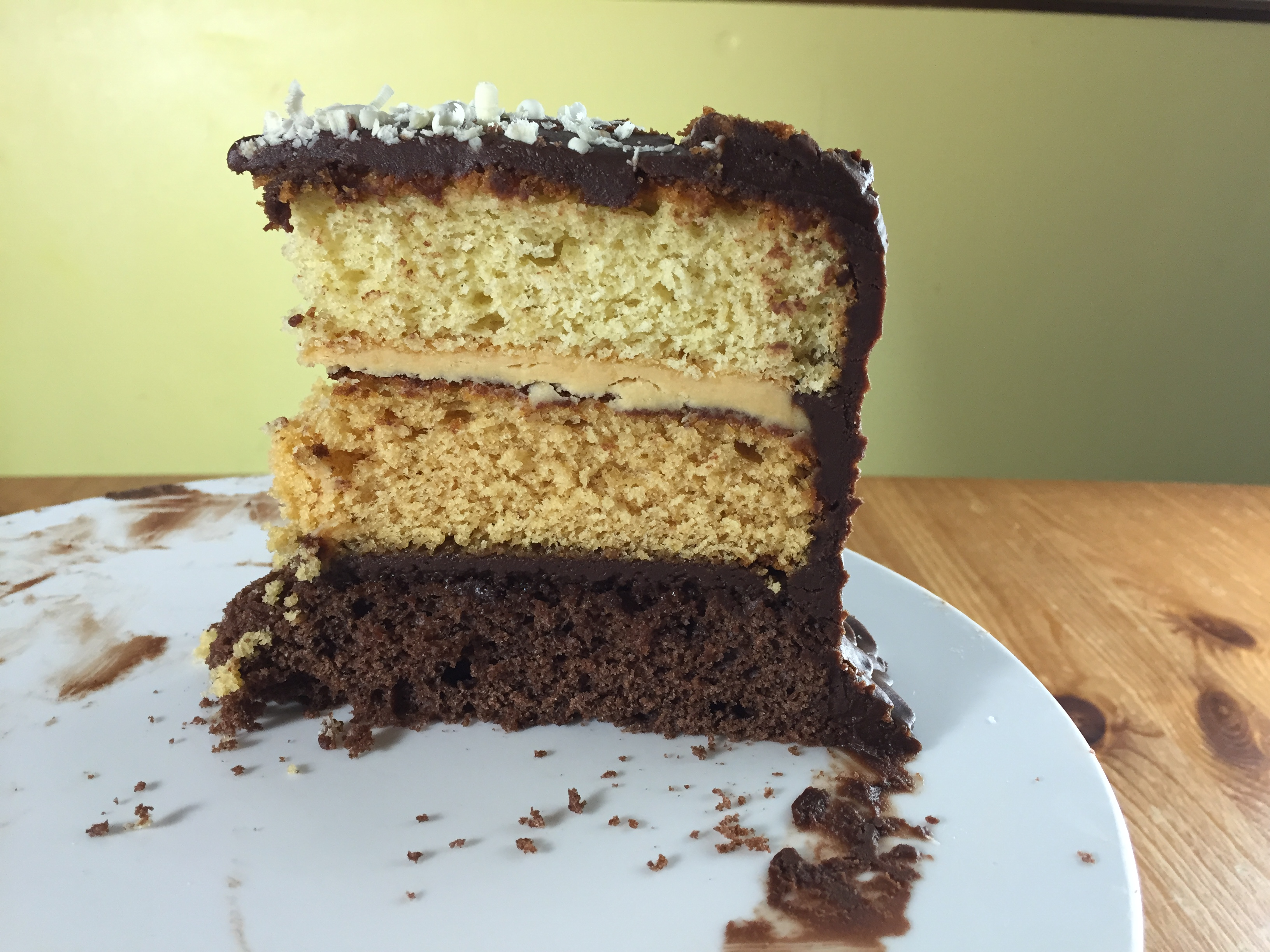 Vanilla Chocolate Caramel Ombre Cake Recipe