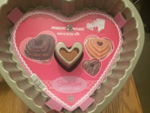 Nordic Ware U.K layered heart bundt tin