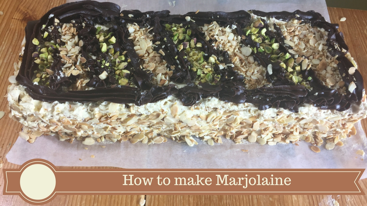 how to make marjolaine - meadow brown bakery