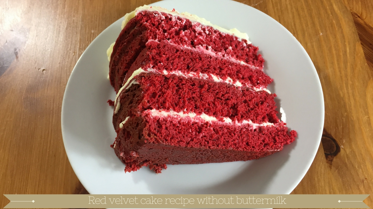 Red velvet cake recipe without buttermilk - meadow brown bakery
