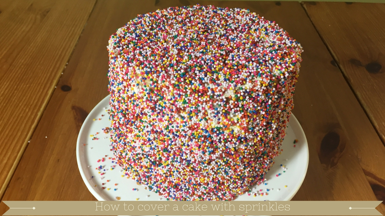 How to decorate a 6 inch cake with 100s and thousands sprinkles