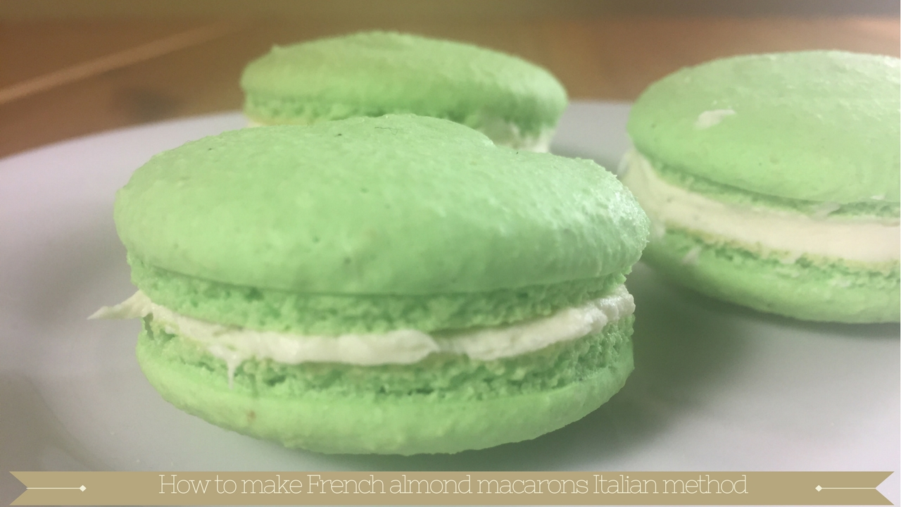 How to make French almond macarons Italian method - Meadow Brown Bakery
