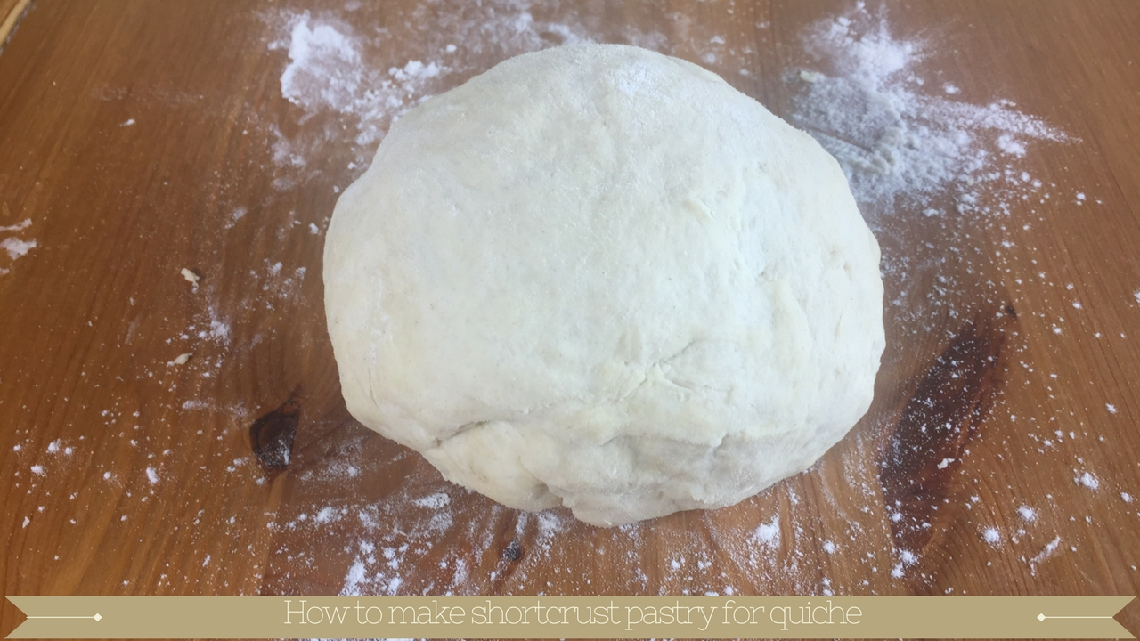 How to make shortcrust pastry for quiche
