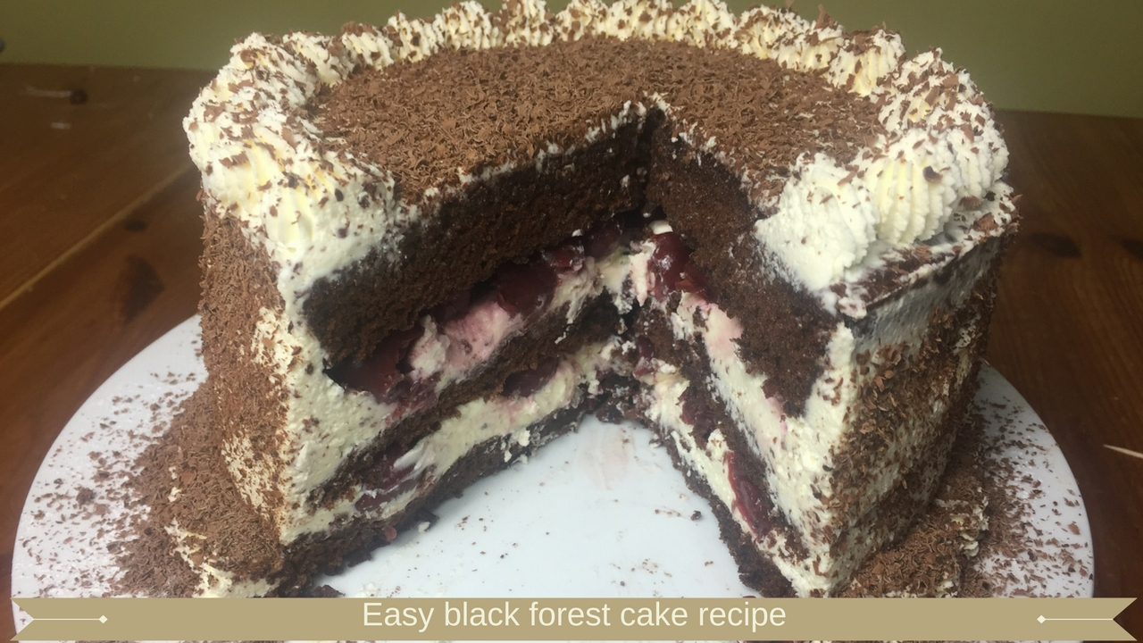 Easy black forest cake recipe - Meadow Brown Bakery