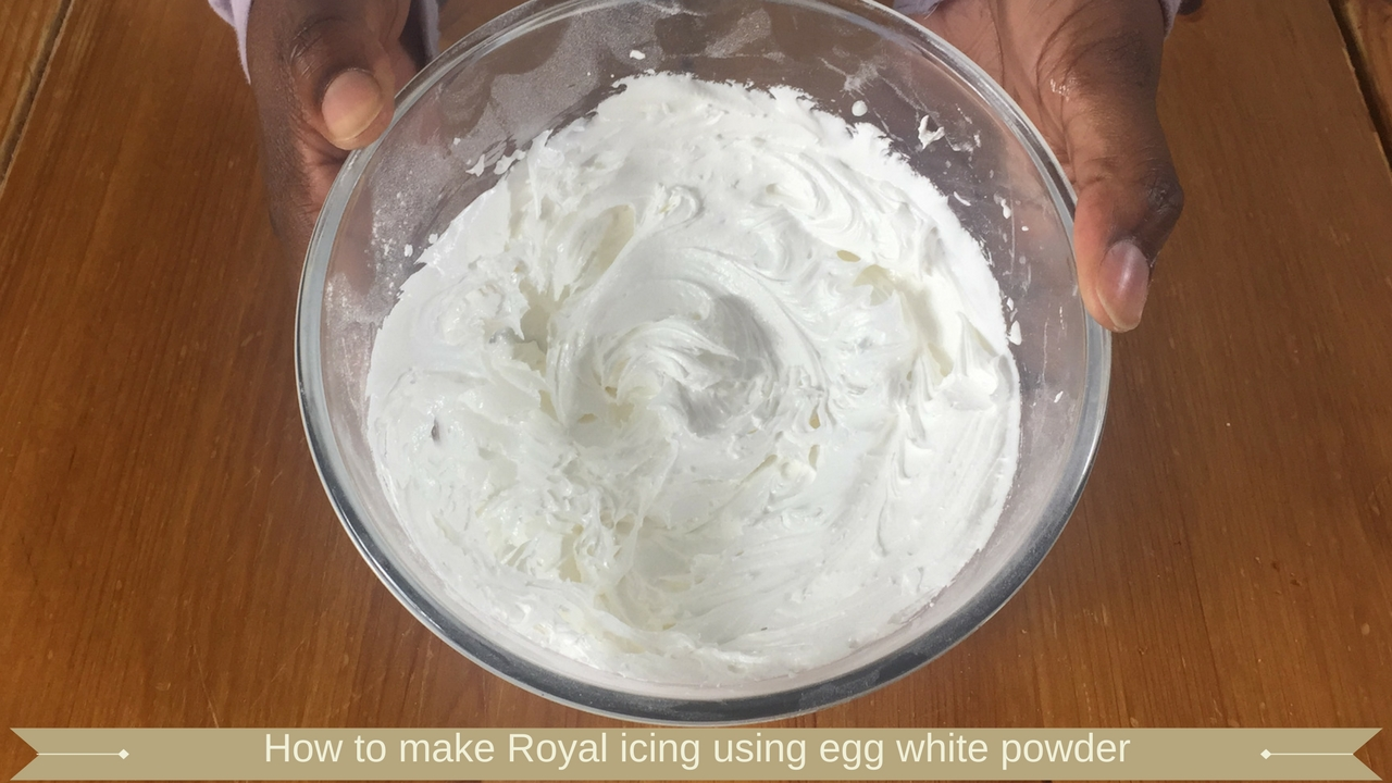 How to make Royal icing using egg white powder - meadow brown bakery