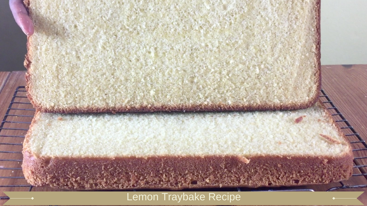 Lemon Traybake Recipe - Meadow Brown Bakery