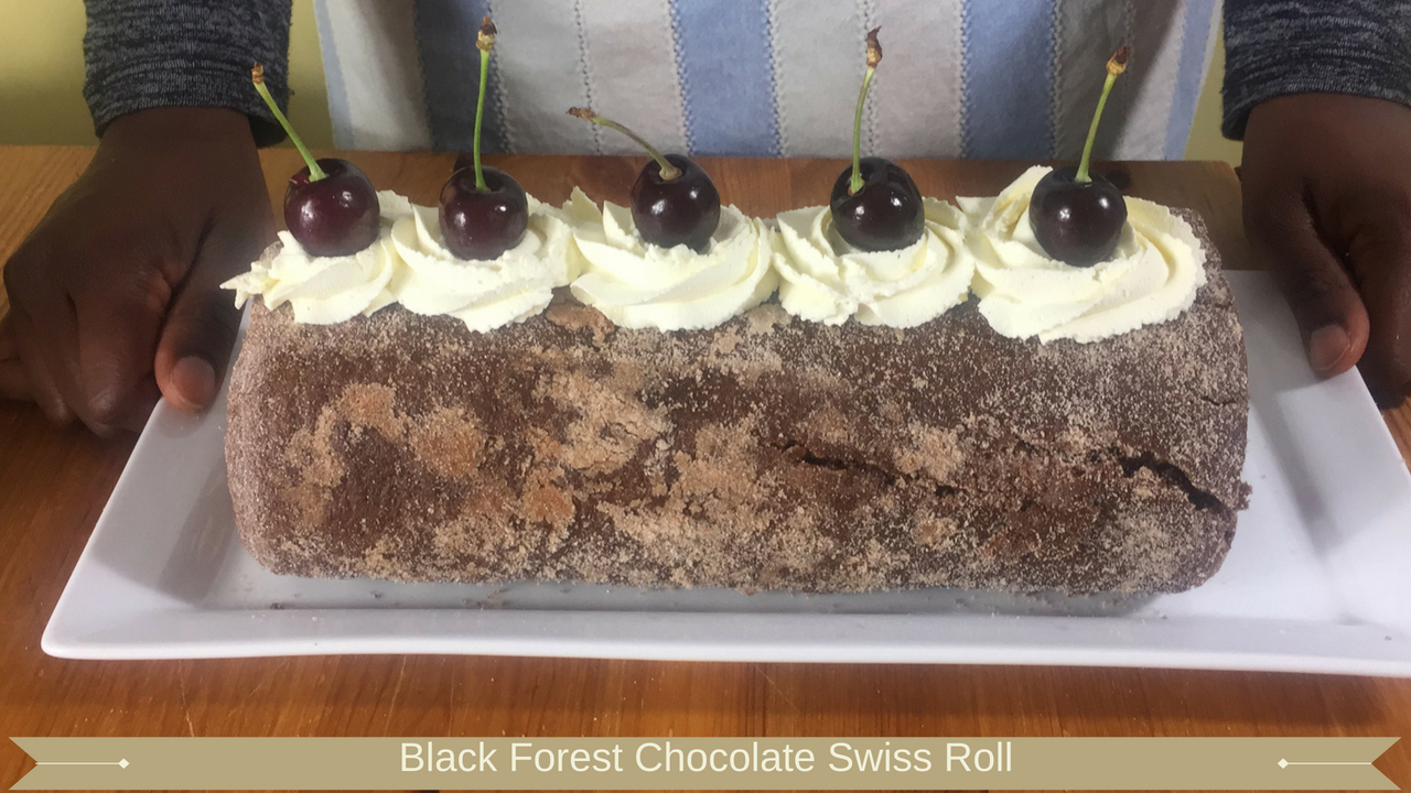 Black Forest Chocolate Swiss Roll - Meadow Brown Bakery