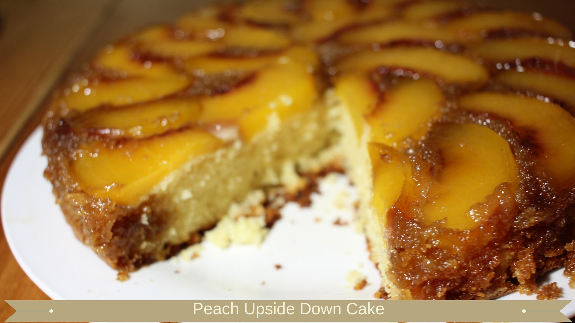 Peach Upside Down Cake - Meadow Brown Bakery