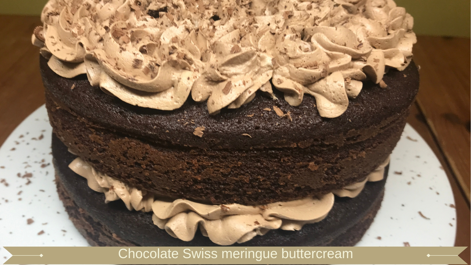 chocolate swiss meringue buttercream - Meadow Brown Bakery