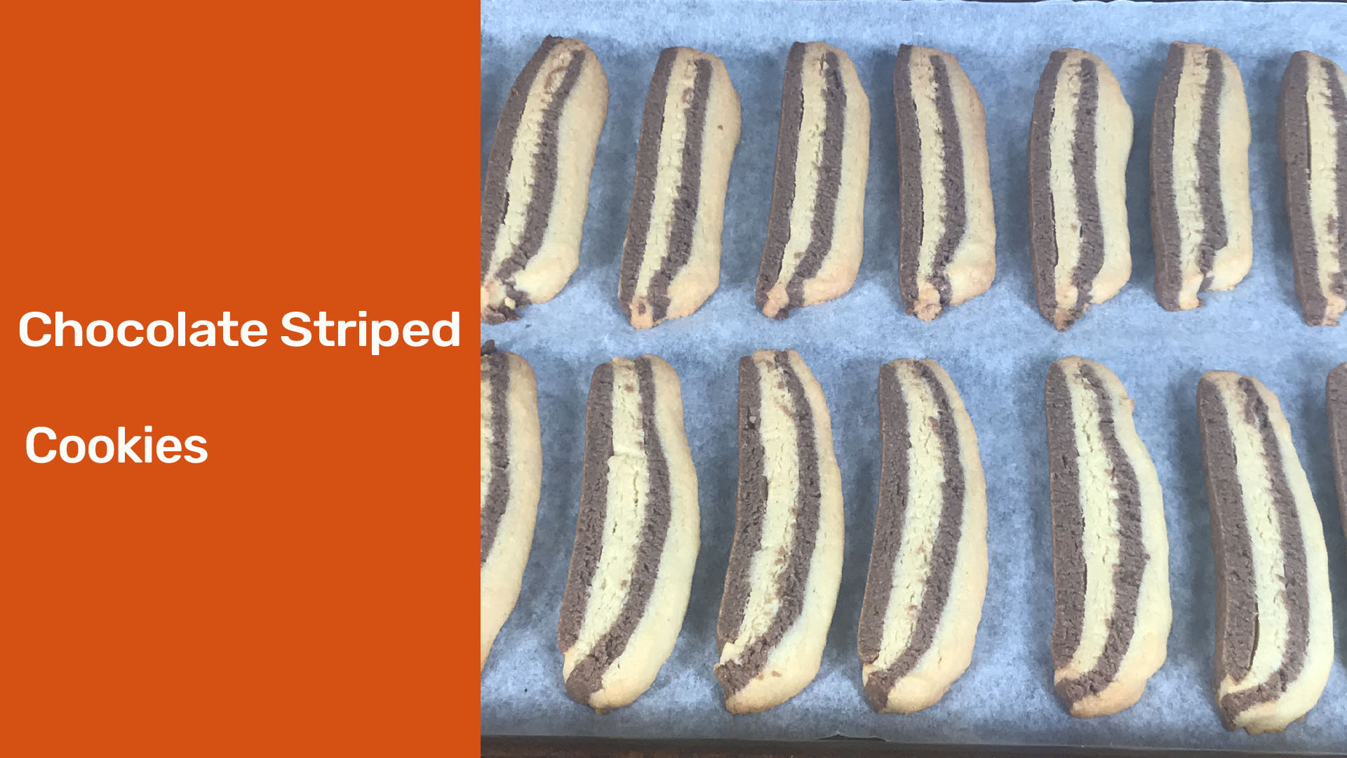 Chocolate striped biscuits - meadow brown bakery