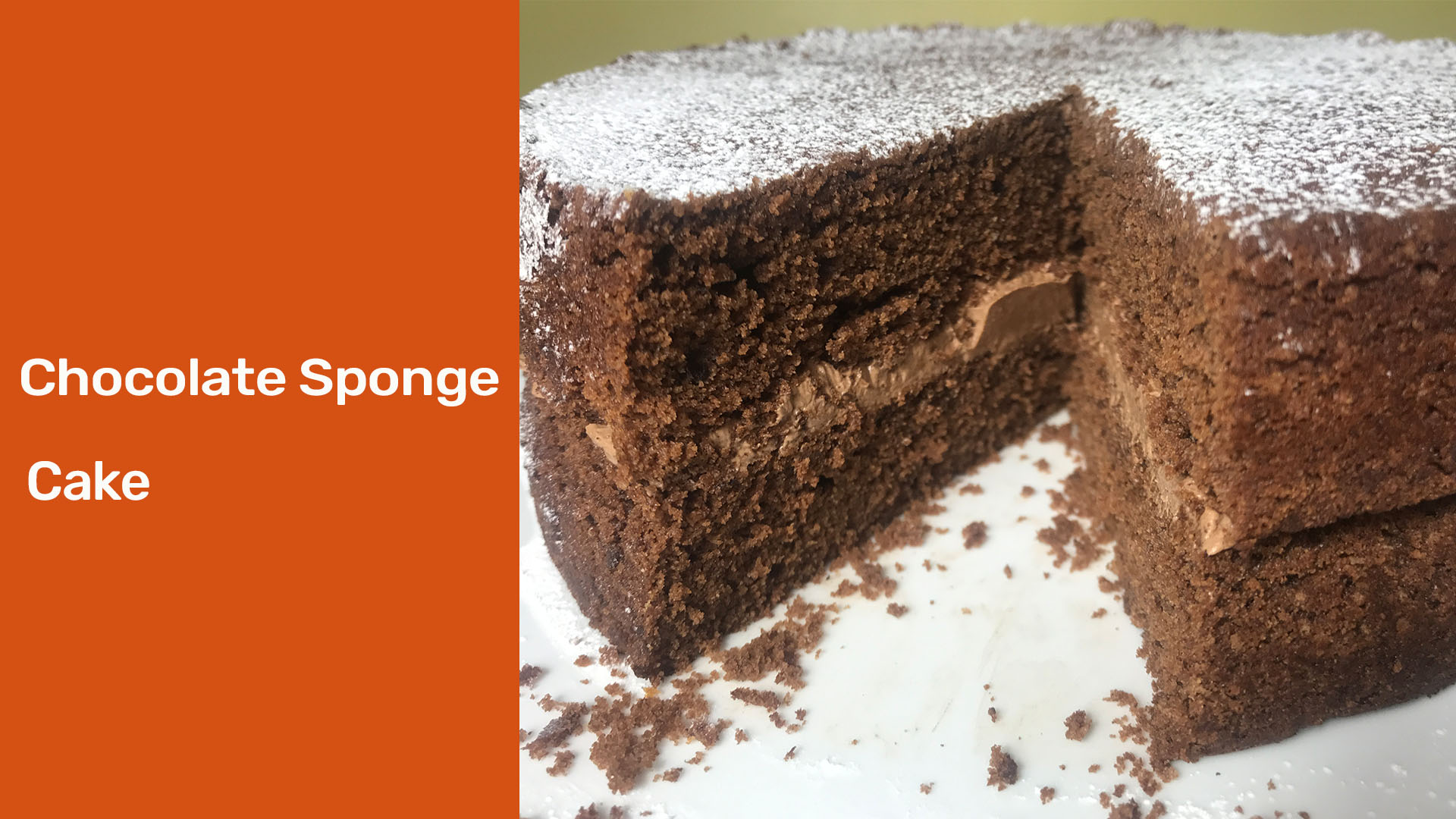 chocolate sponge cake - Meadow Brown Bakery