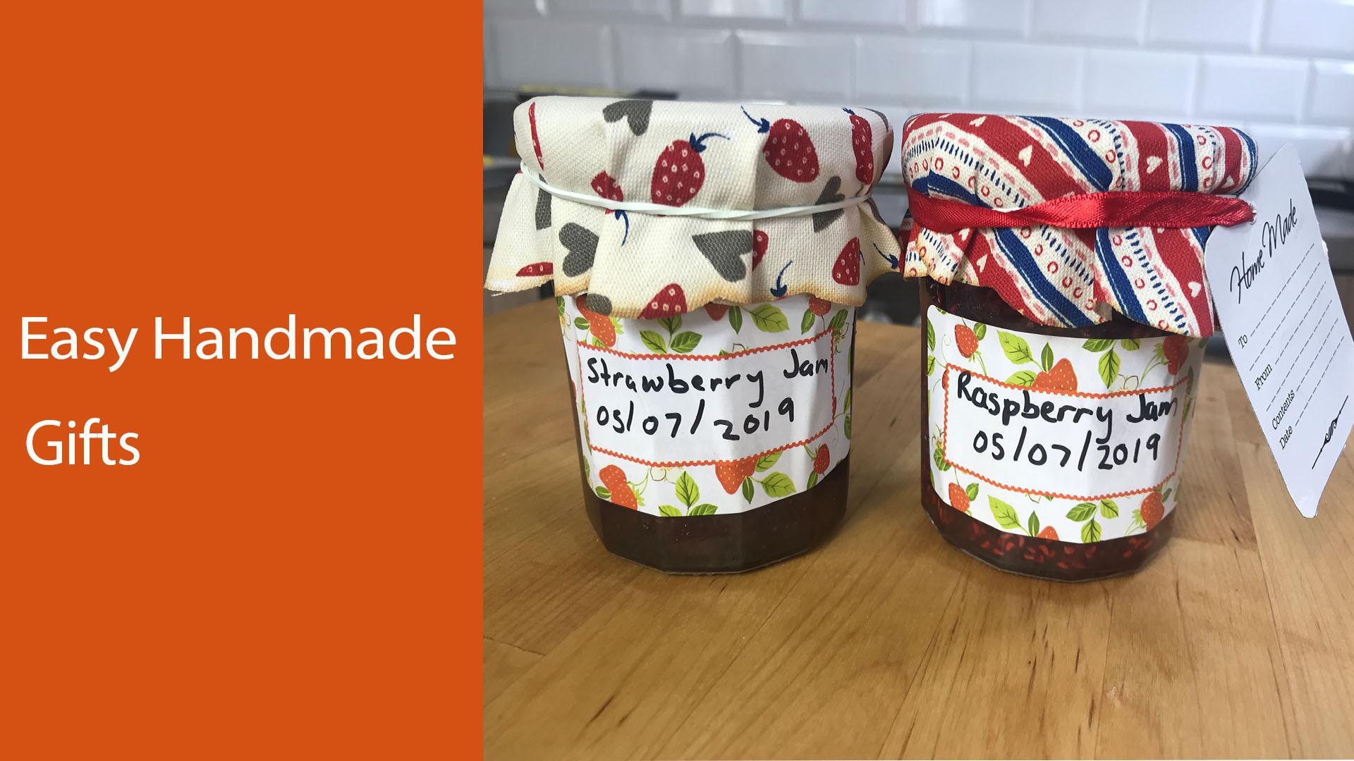 Homemade jam in jam jars