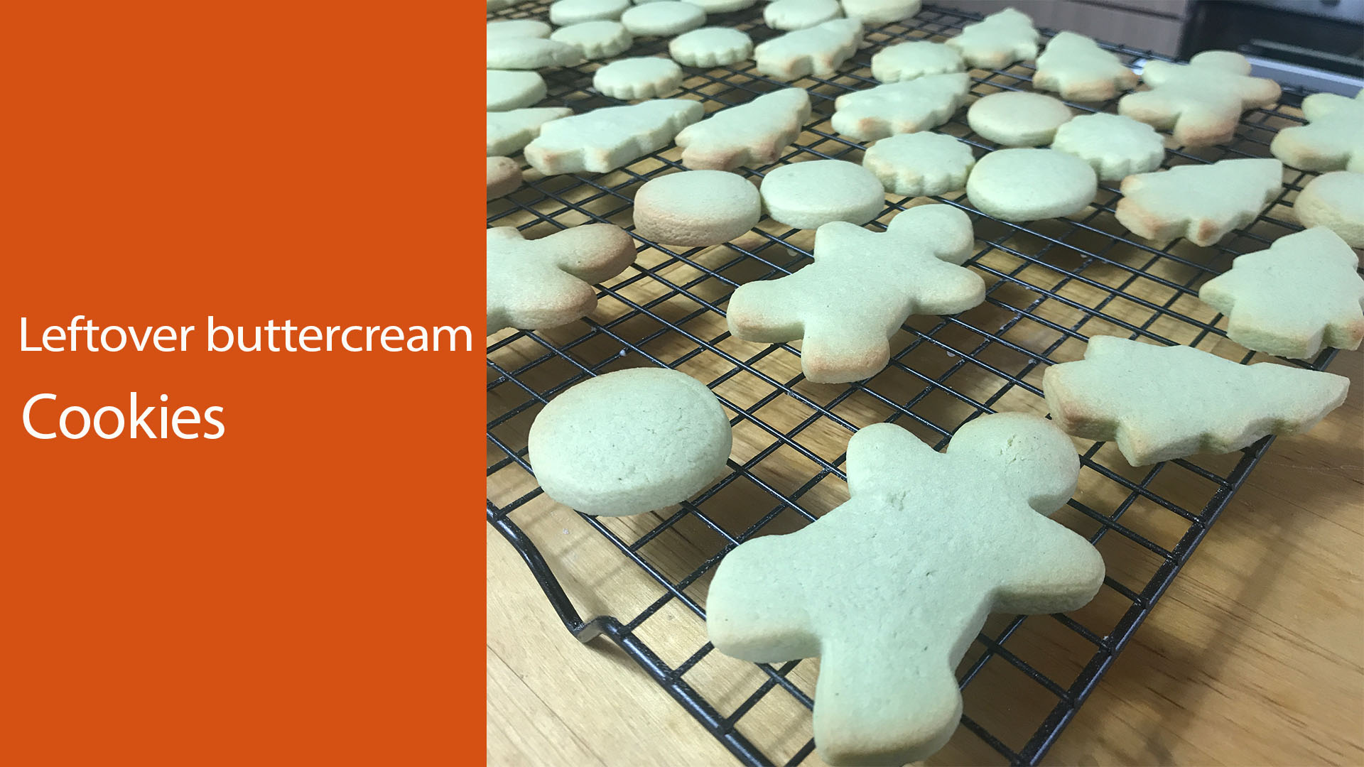 Leftover buttercream recipe : Cookies with leftover frosting