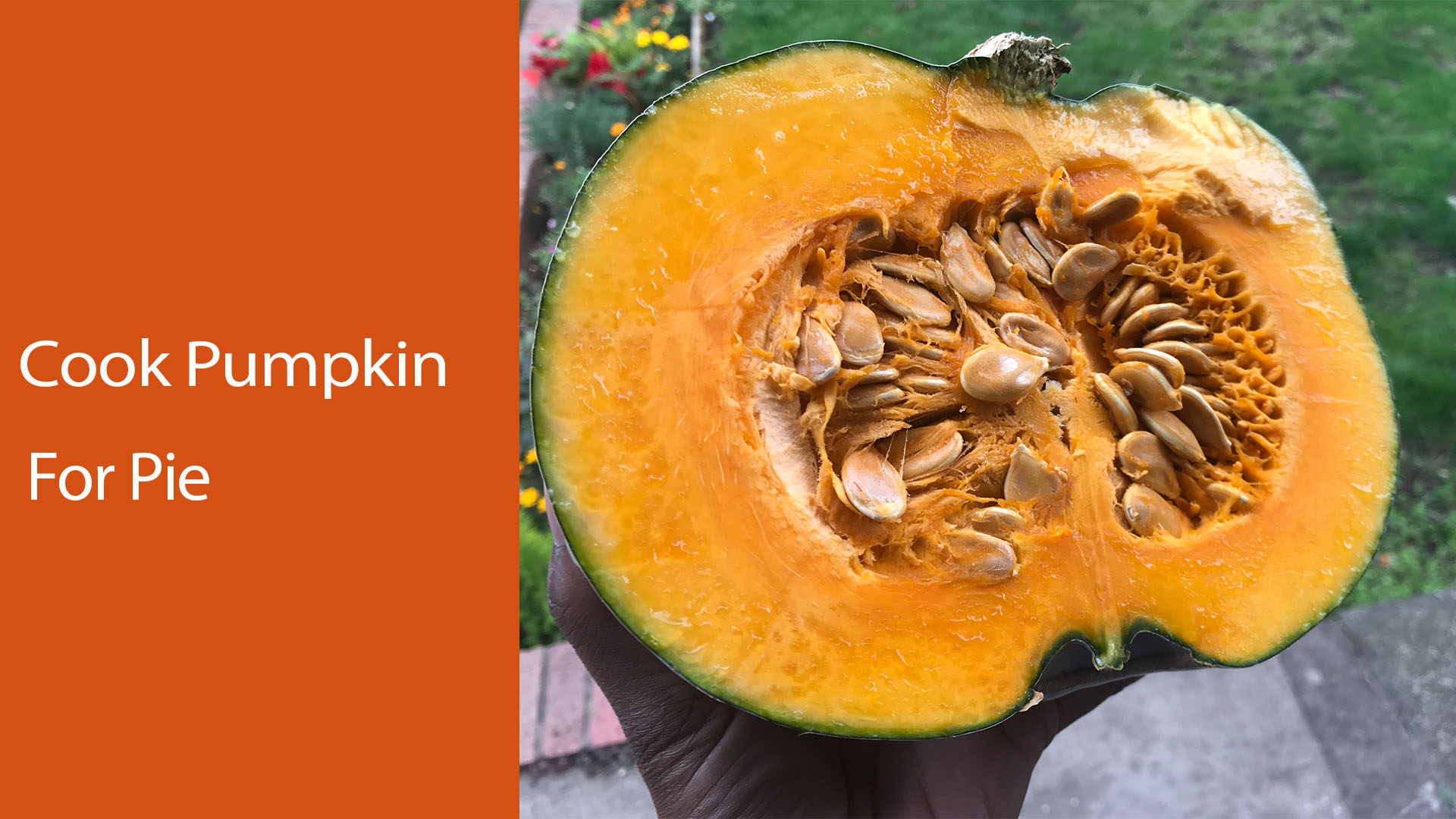 How to cook pumpkin for pie