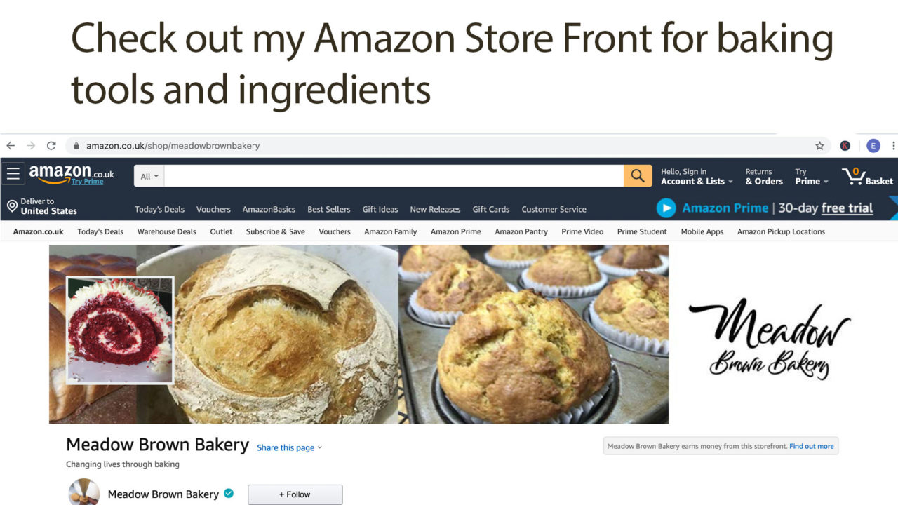 Amazon Influencer Programme Meadow Brown Bakery