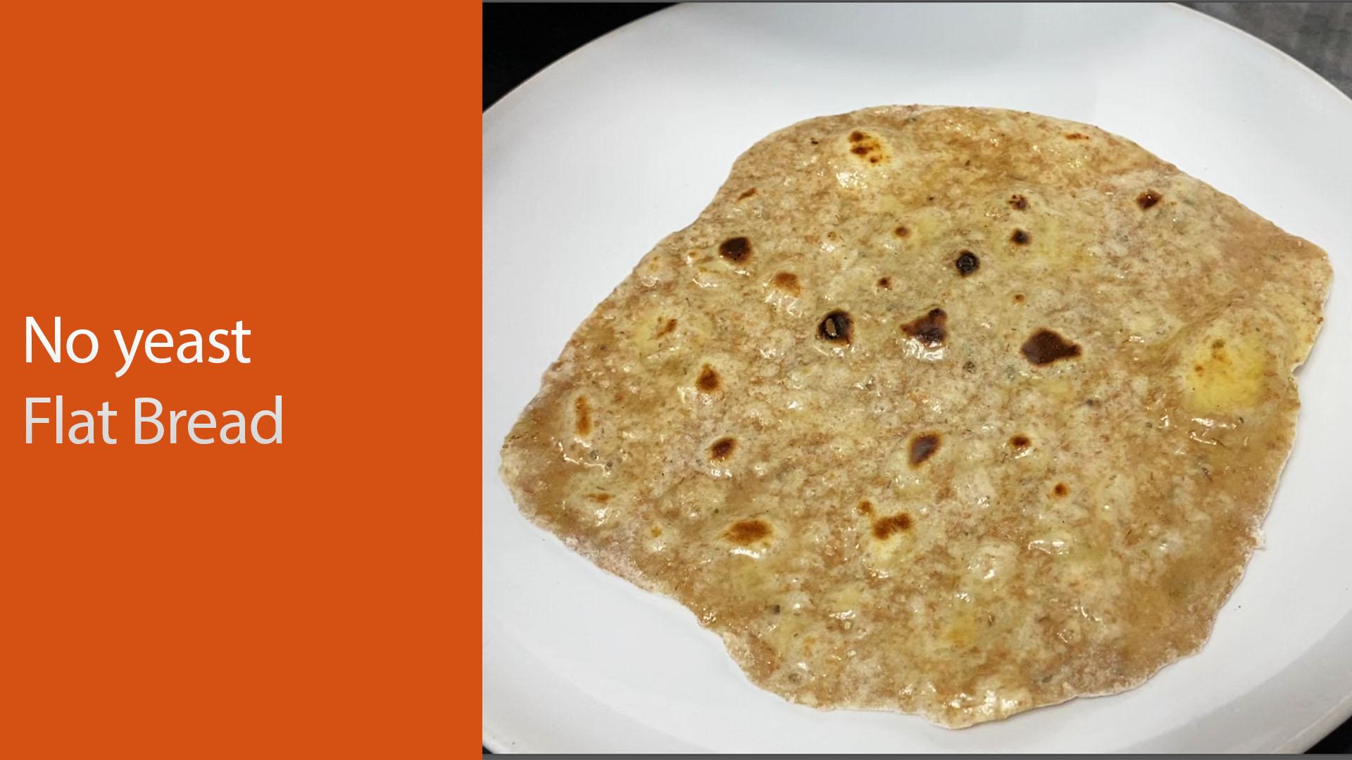 No yeast no dairy flat bread