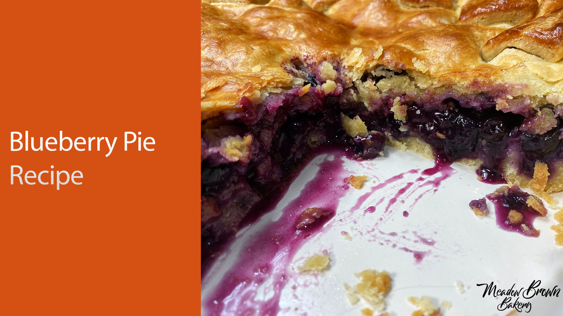 Blueberry pie recipe uk