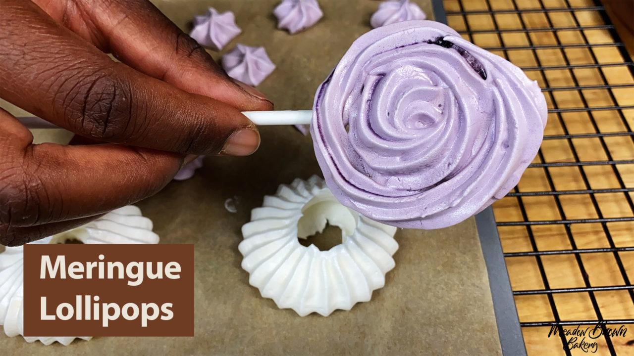Meringue lollipops - Meringue Course for Beginners