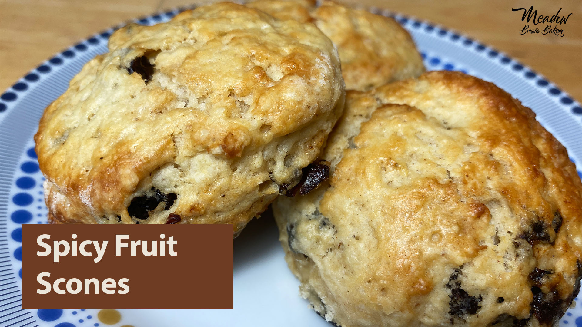 fruit scones with mixed spice