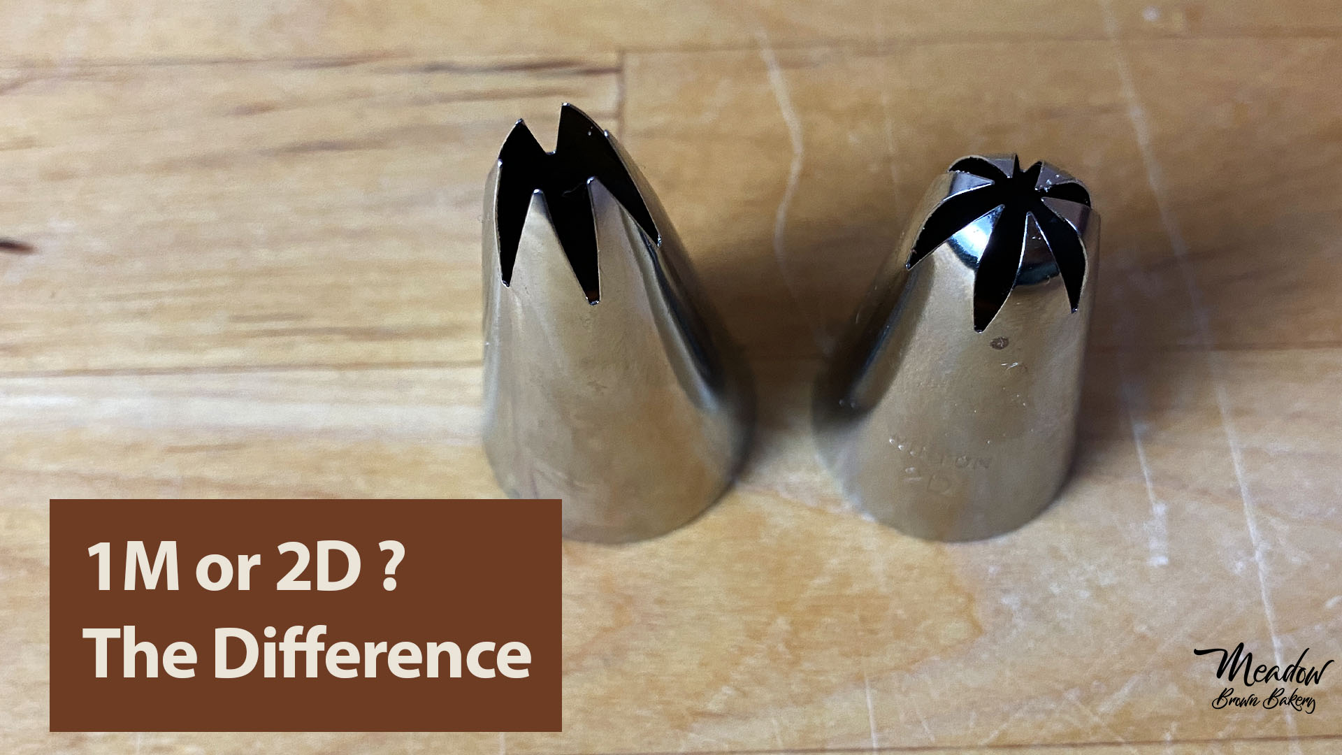 Difference between 1M and 2D piping tips