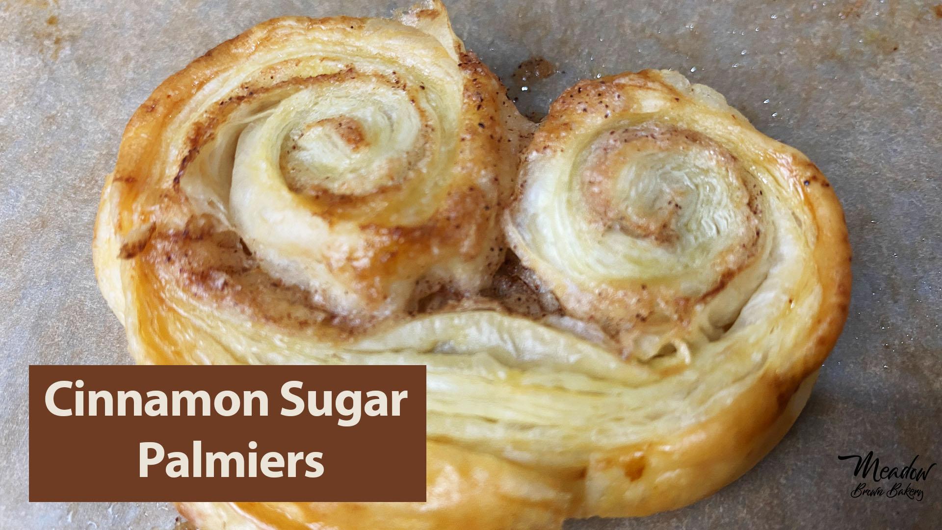 cinnamon sugar puff pastry palmiers