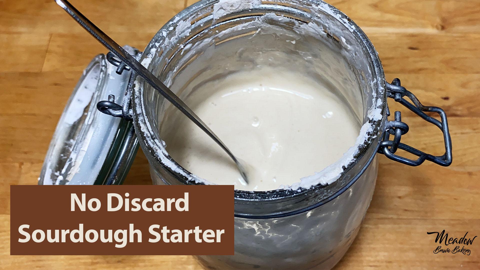 no discard sourdough starter
