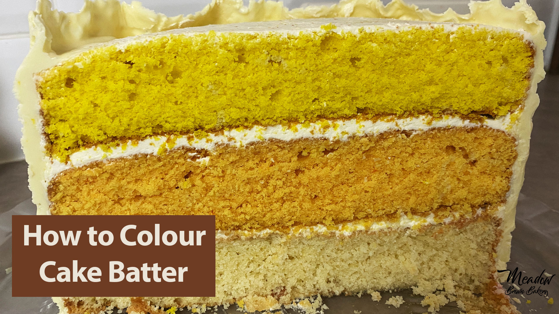 How to colour cake batter