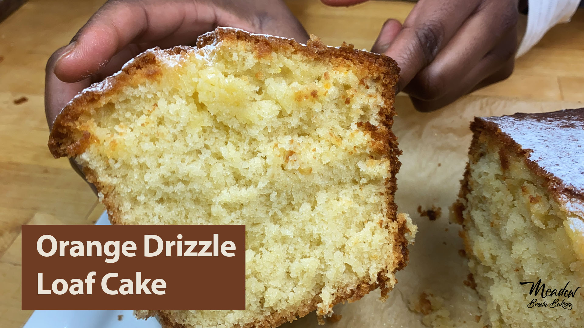 Orange drizzle loaf cake