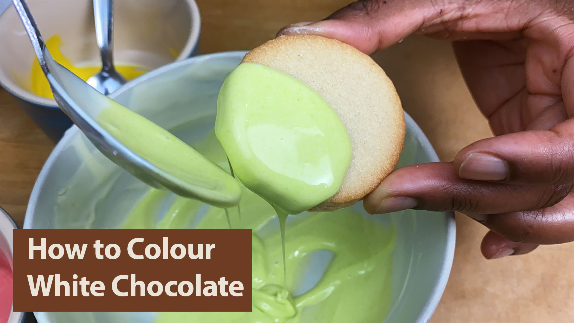 How to colour white chocolate