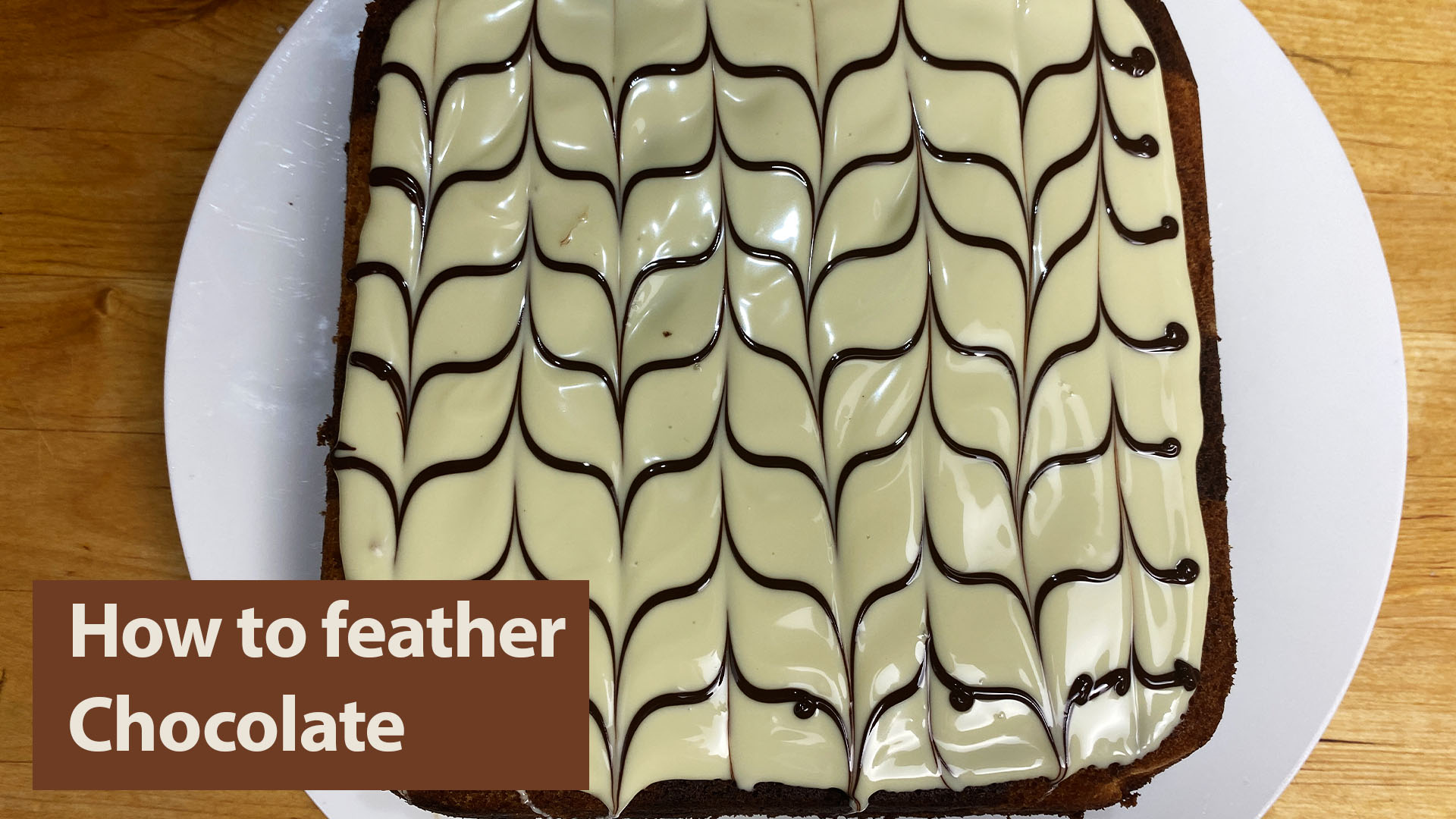 How to feather chocolate