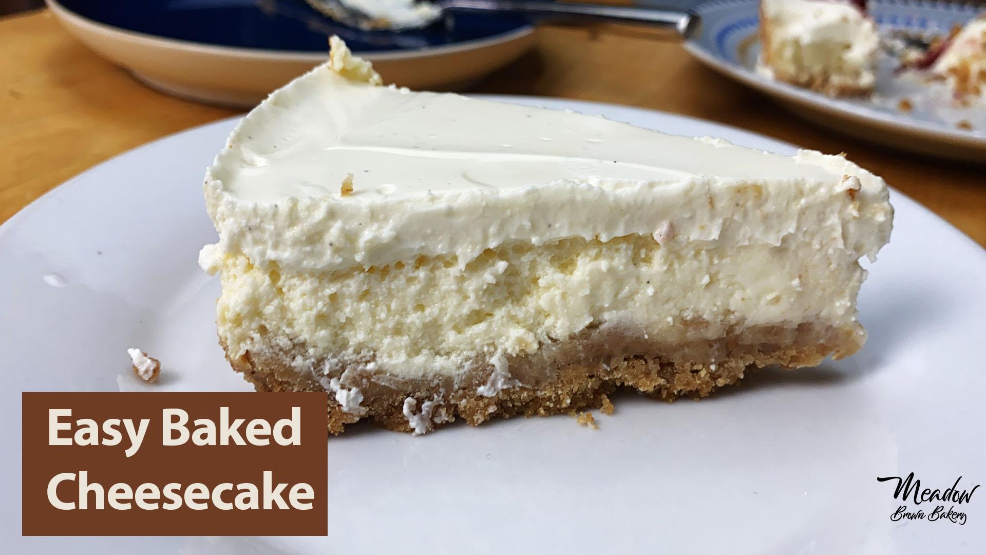 Baked cheesecake recipe UK