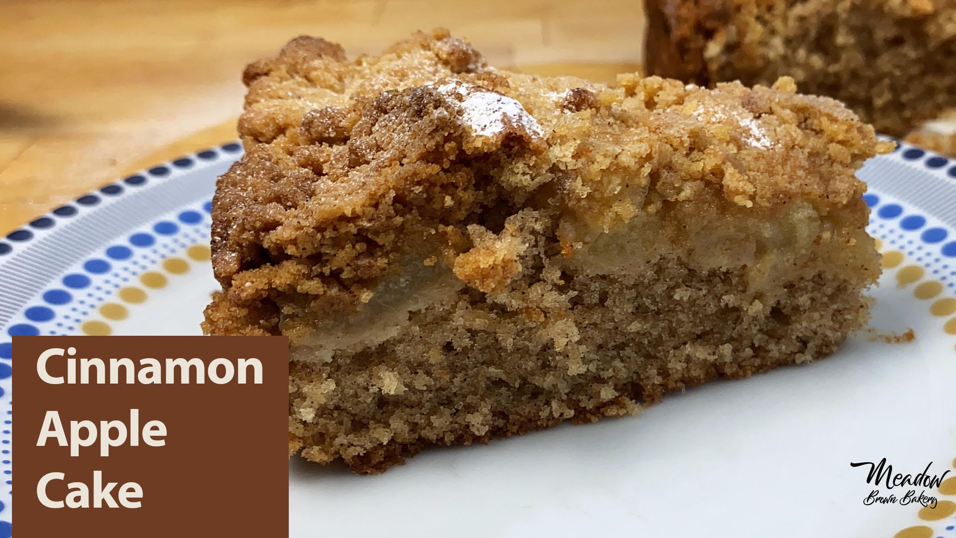 Cinnamon apple streusel cake
