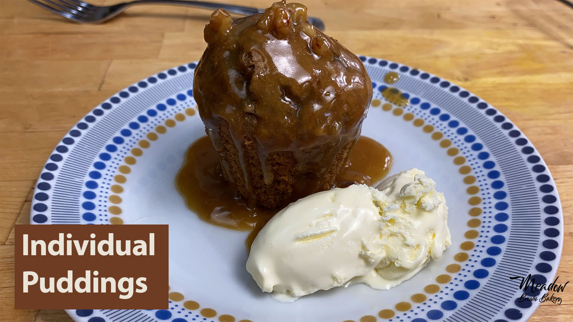 individual puddings walnut and coffee